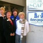 Kiawah Seabrook Office Agents Outside by Dunes Properties Sign