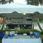 Kiawah Seabrook Office tent Bohicket Marina