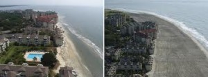 Wild Dunes Beach Renourishment before and after