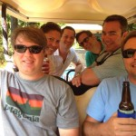 dunes properties agents golf carting on Dewees Island