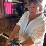 Judy Fairchild at the Nature Center on Dewees Island