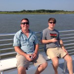 dunes properties agents on the Dewees Island ferry