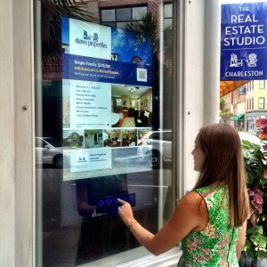 The Real Estate Studio window touch screen search