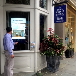 The Real Estate Studio window touch screen real estate search