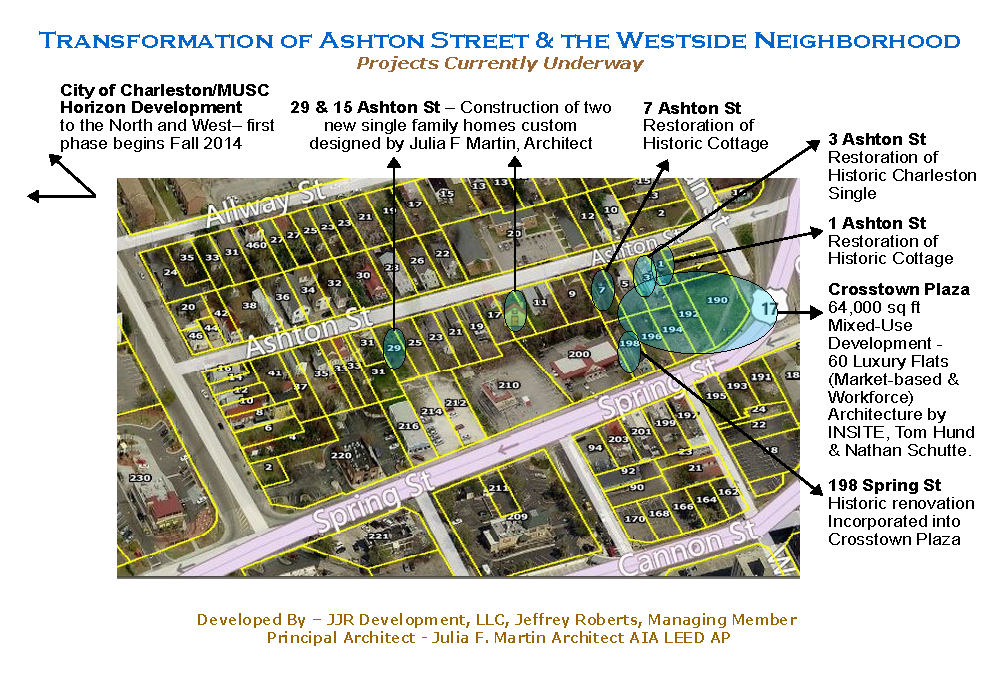 Ashton Street Map, charleston, dunes properties