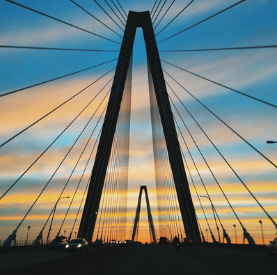 Ravenel Bridge Sunset by Instagram user @adamaref