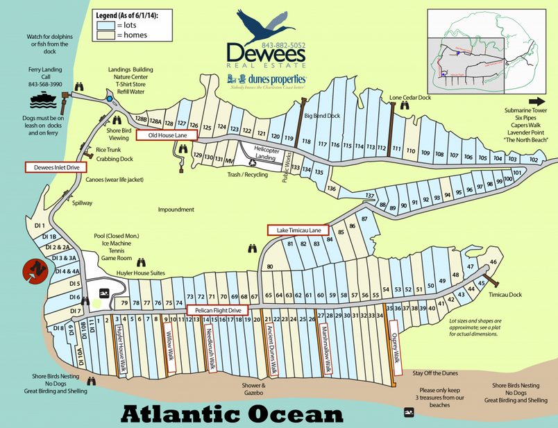 Dewees Island Map