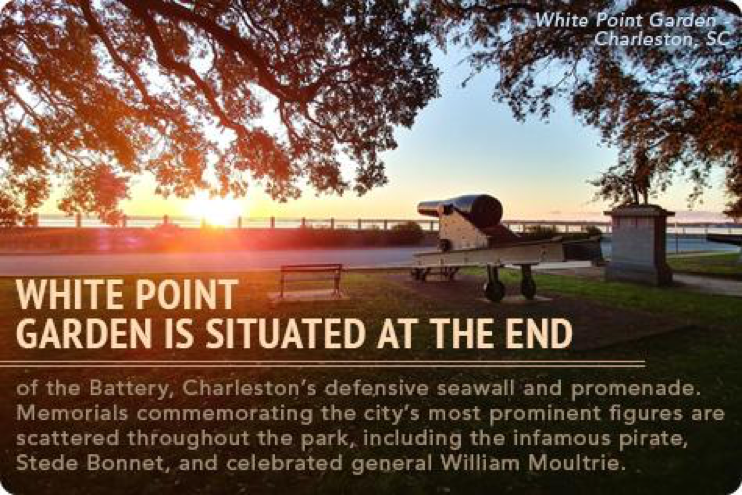 Military History in Charleston, White Point Garden